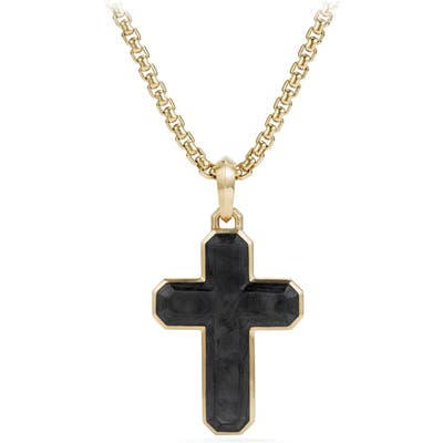 David Yurman Forged Carbon Cross Enhancer