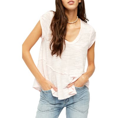 Free People Sweetness T-Shirt, Pink
