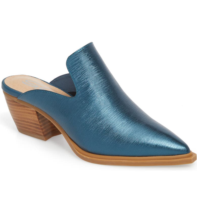 SBICCA Louisa Loafer Mule, Main, color, METALLIC BLUE