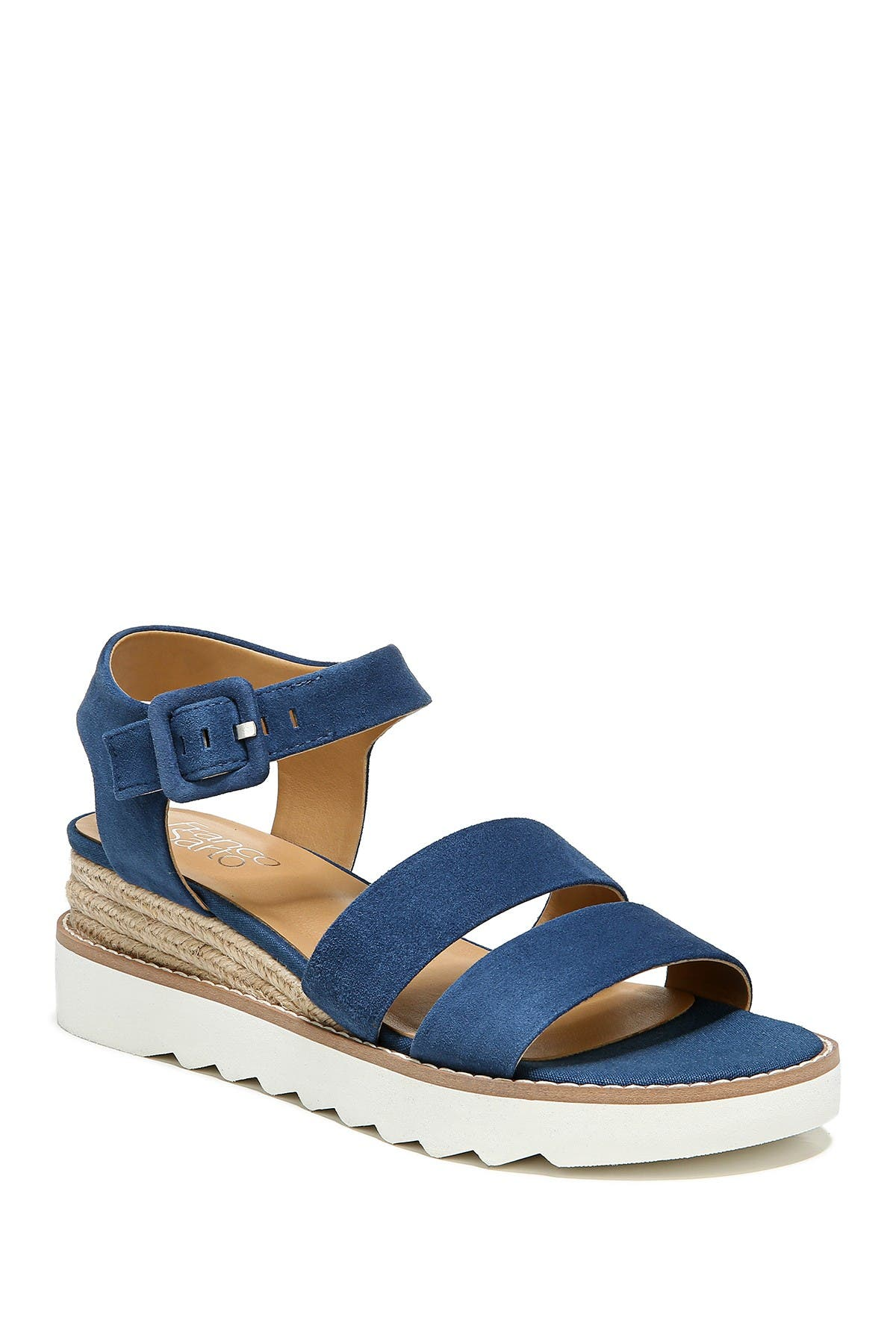 Image of Franco Sarto Colton Leather Wedge Espadrille Sandal