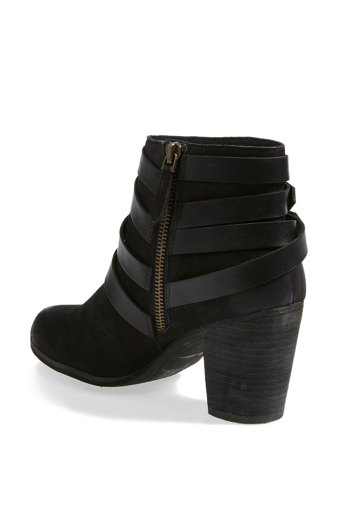 ,                             'Train' Wrap Belted Bootie,                             Alternate thumbnail 4, color,                             004