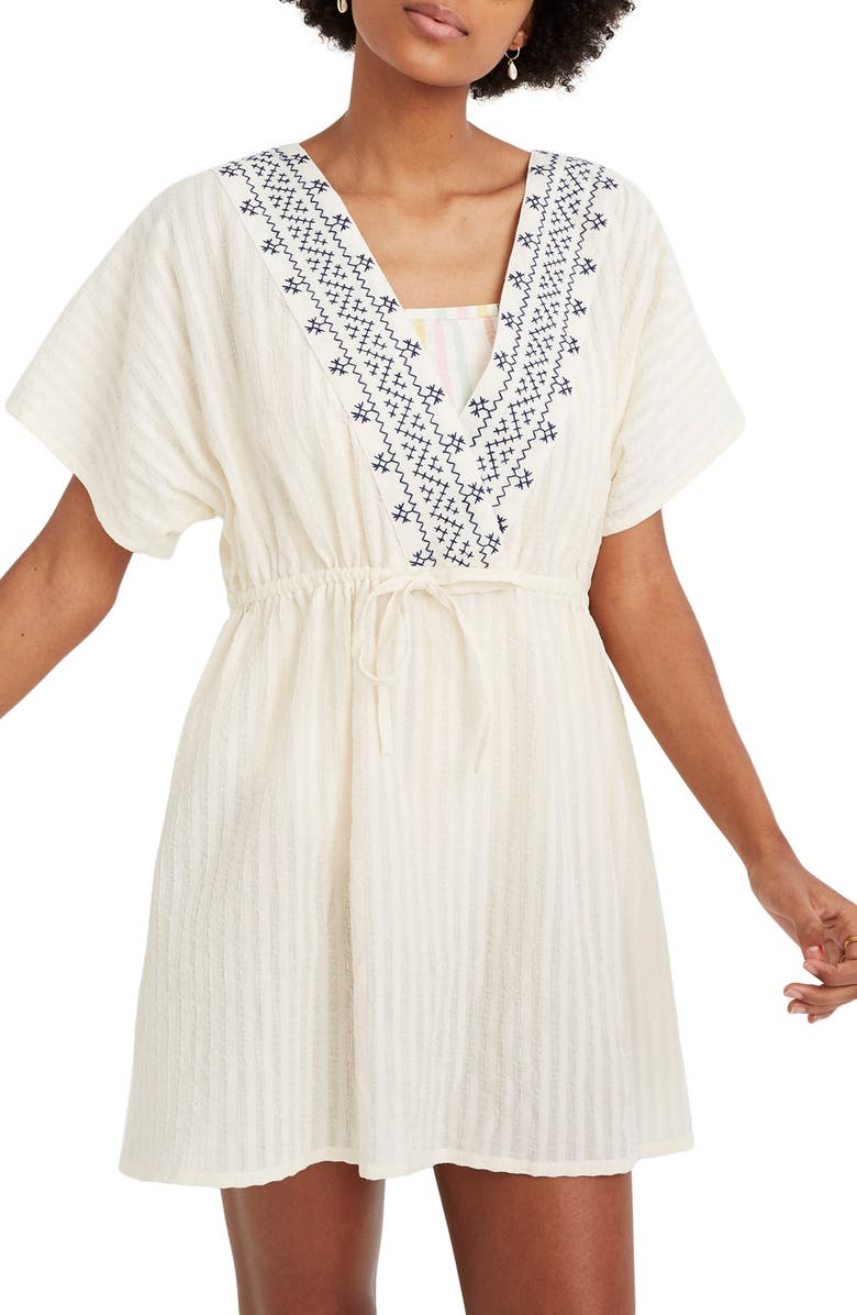 b6bbd6ca52c5f Madewell Embroidered Tie Back Cover-Up Dress (Regular & Plus Size ...