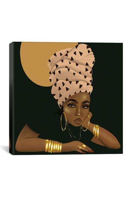 Image of iCanvas LaShonda and the Headwrap by Zola Arts