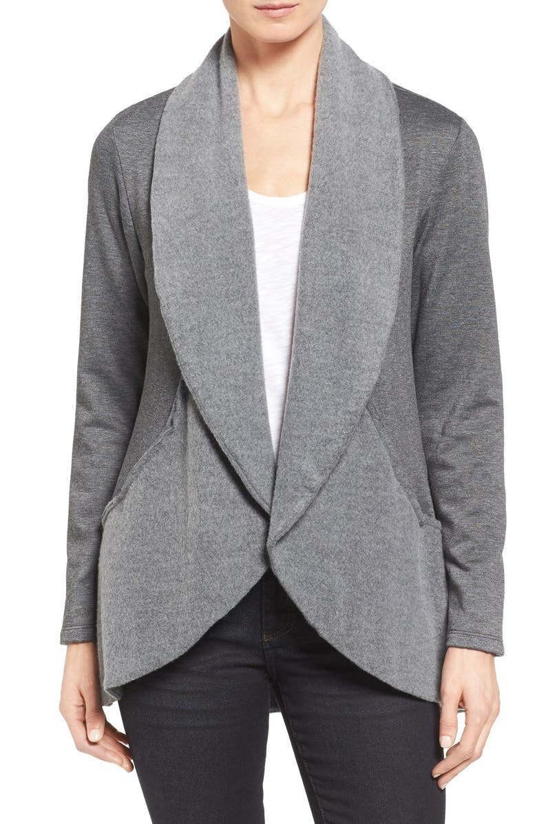 BOBEAU 'Yummy Fleece' Shawl Collar Cardigan, Main, color, 029