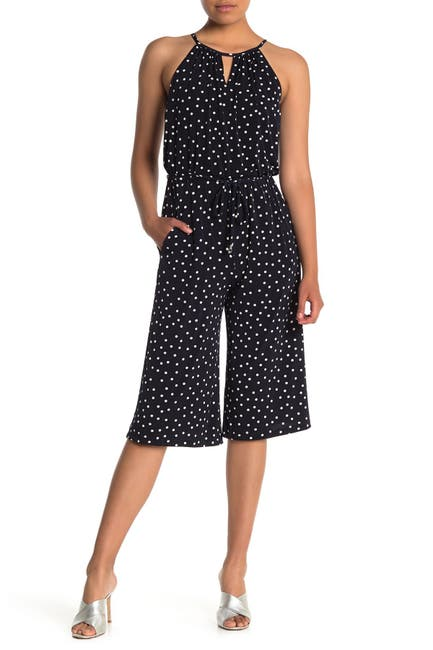 Image of London Times Happy Dot Cropped Jumpsuit