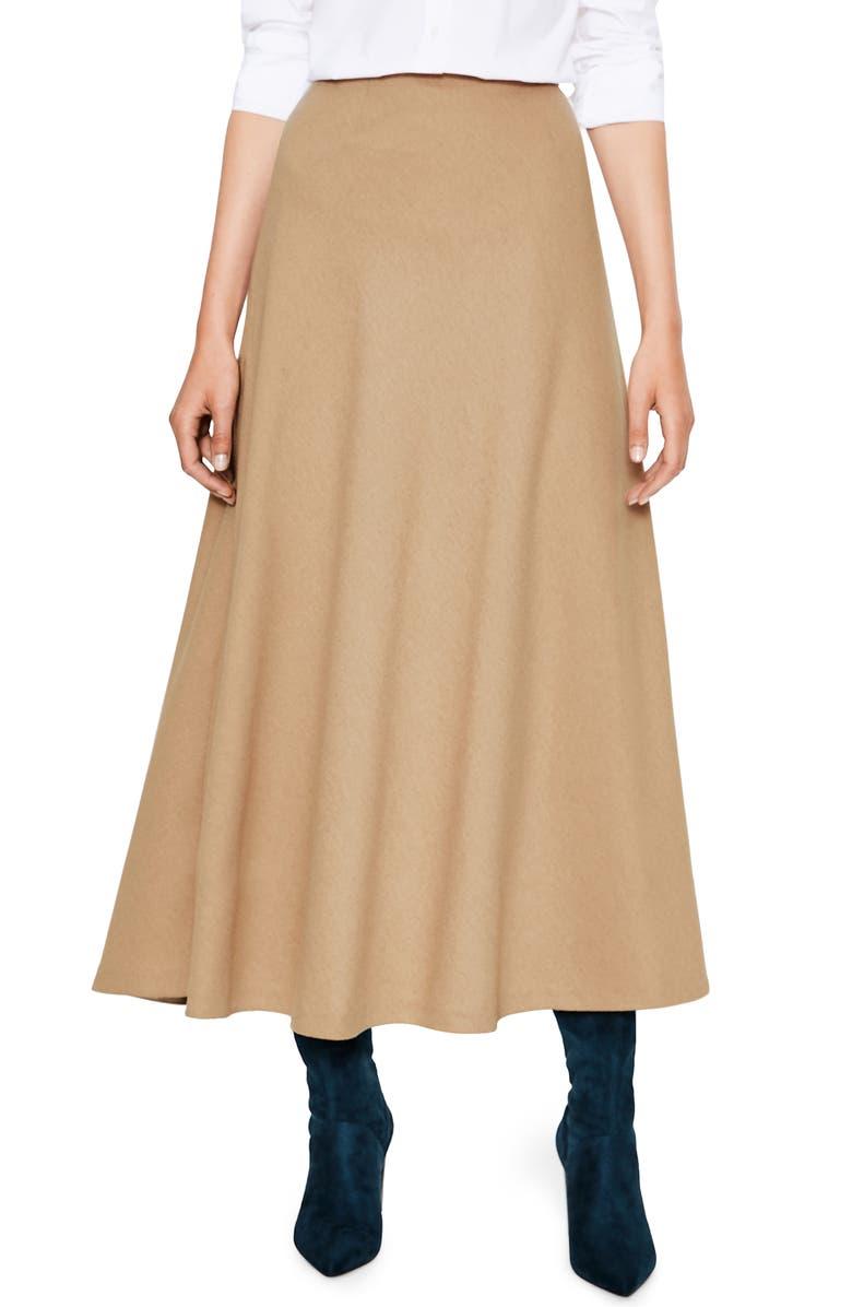 BODEN Wool Blend Midi Skirt, Main, color, 234
