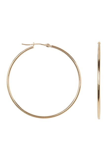 Image of KARAT RUSH 10K Yellow Gold 19mm Tube Hoop Earrings