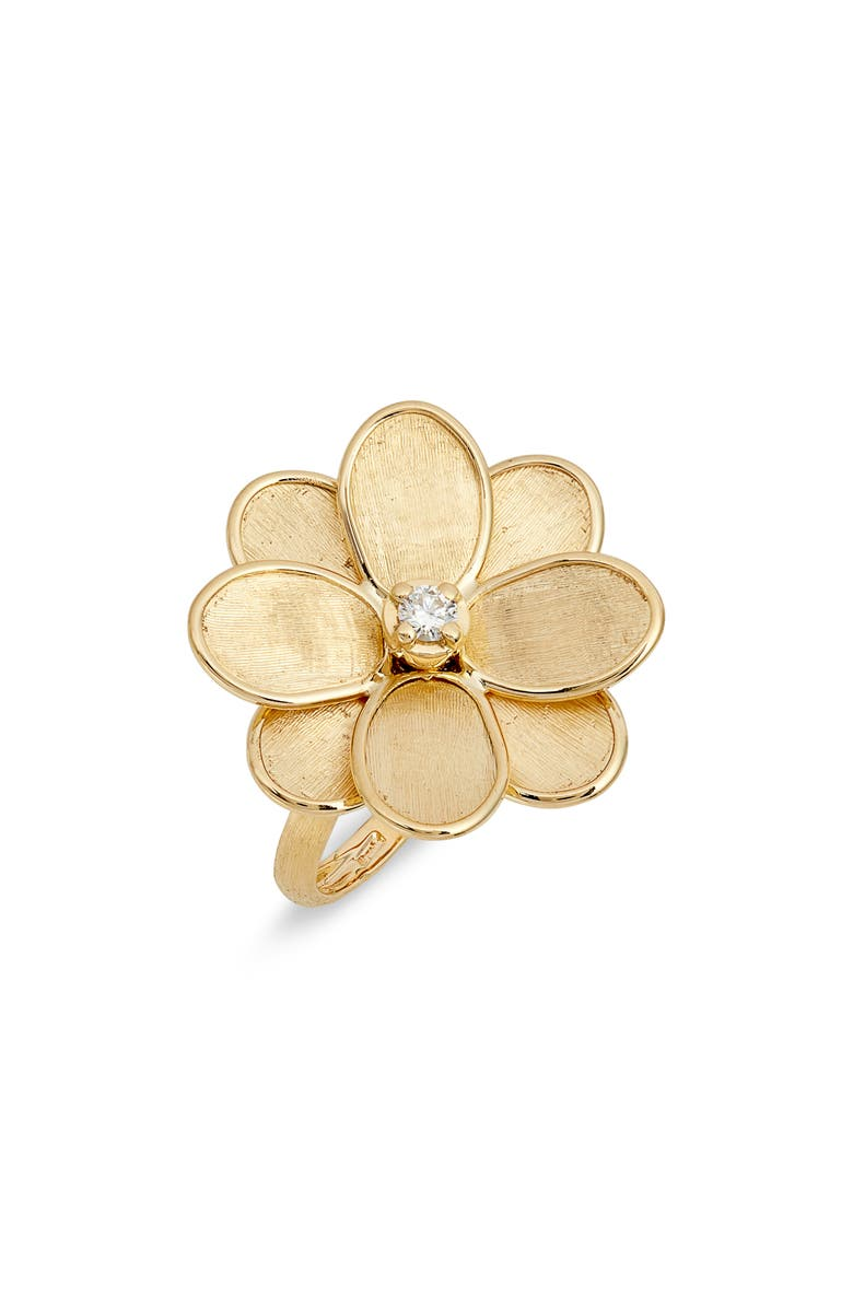 MARCO BICEGO Petali Diamond Flower Cocktail Ring, Main, color, YELLOW GOLD