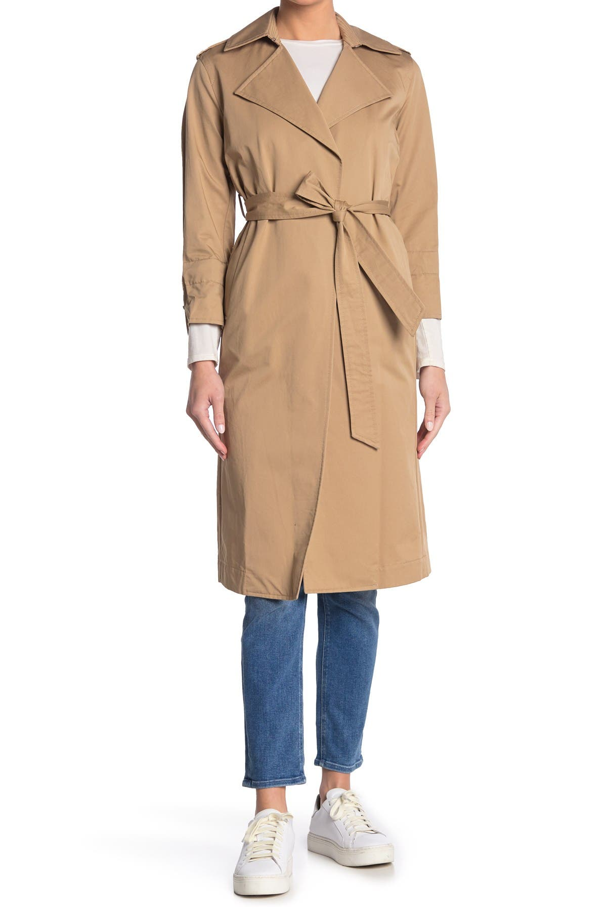 Image of ALLSAINTS Miley Mac 3/4 Sleeve Trench Coat