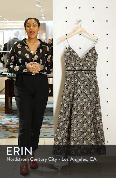 Floral Jacquard Evening Dress, sales video thumbnail