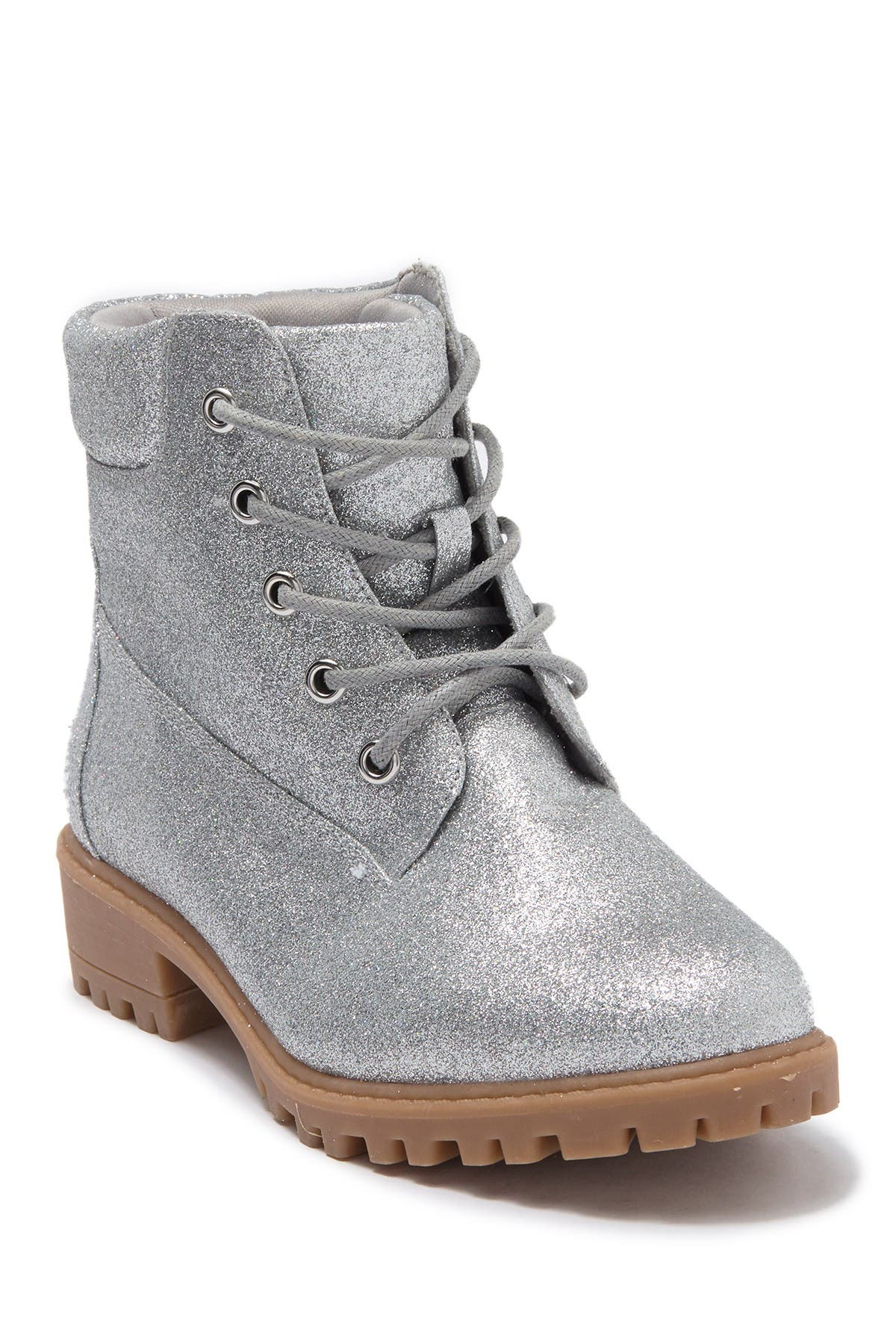 Image of MIA Glitter Hiker Lace Up Boot