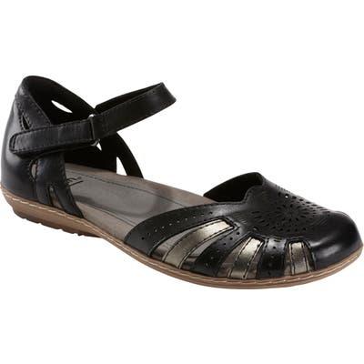 Earth Cahoon Sandal, Black
