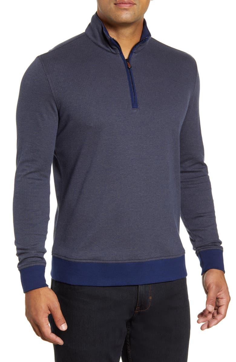 ROBERT GRAHAM Hartford Half Zip Pullover, Main, color, 410