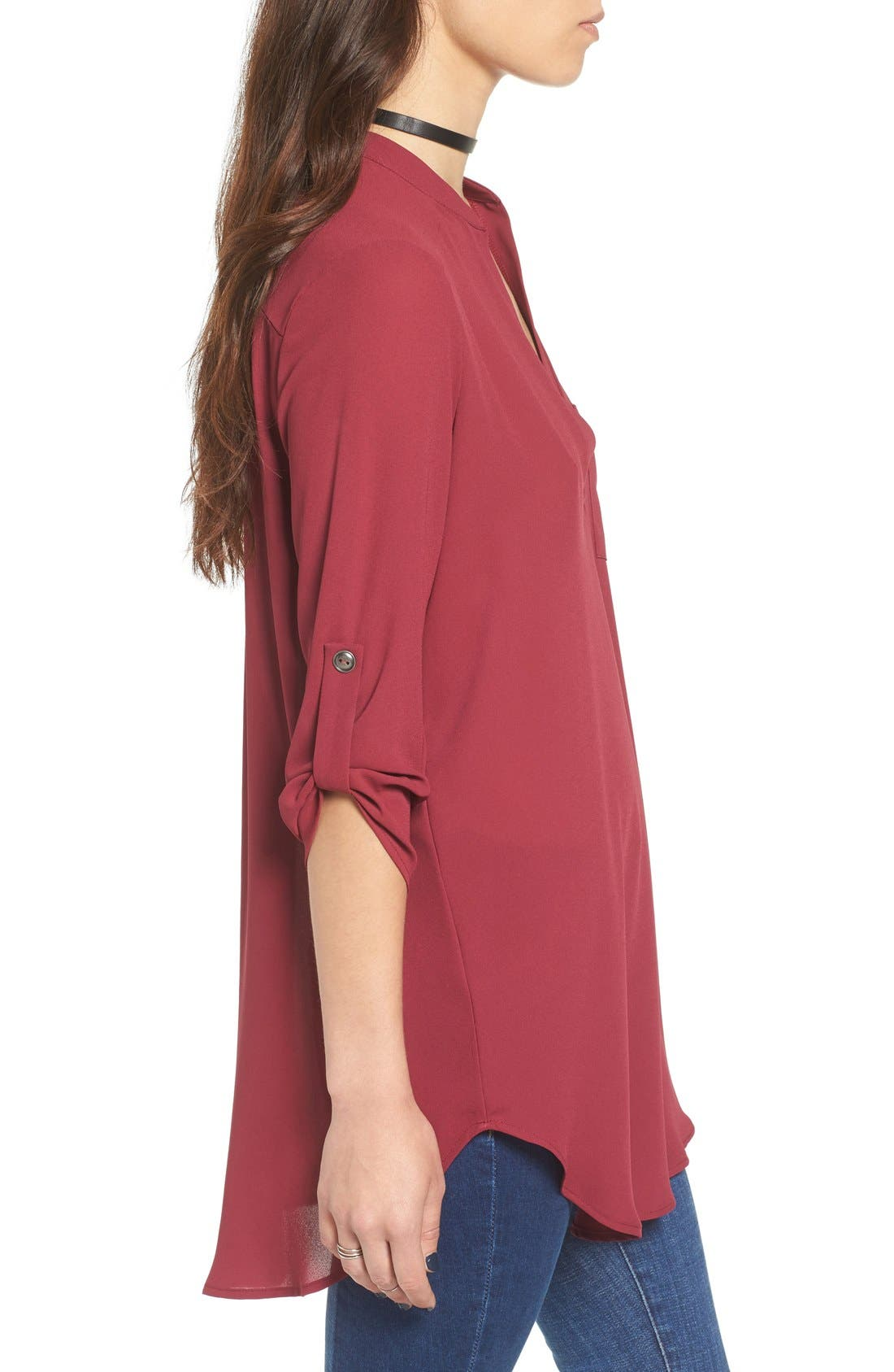 ,                             Perfect Roll Tab Sleeve Tunic,                             Alternate thumbnail 339, color,                             602