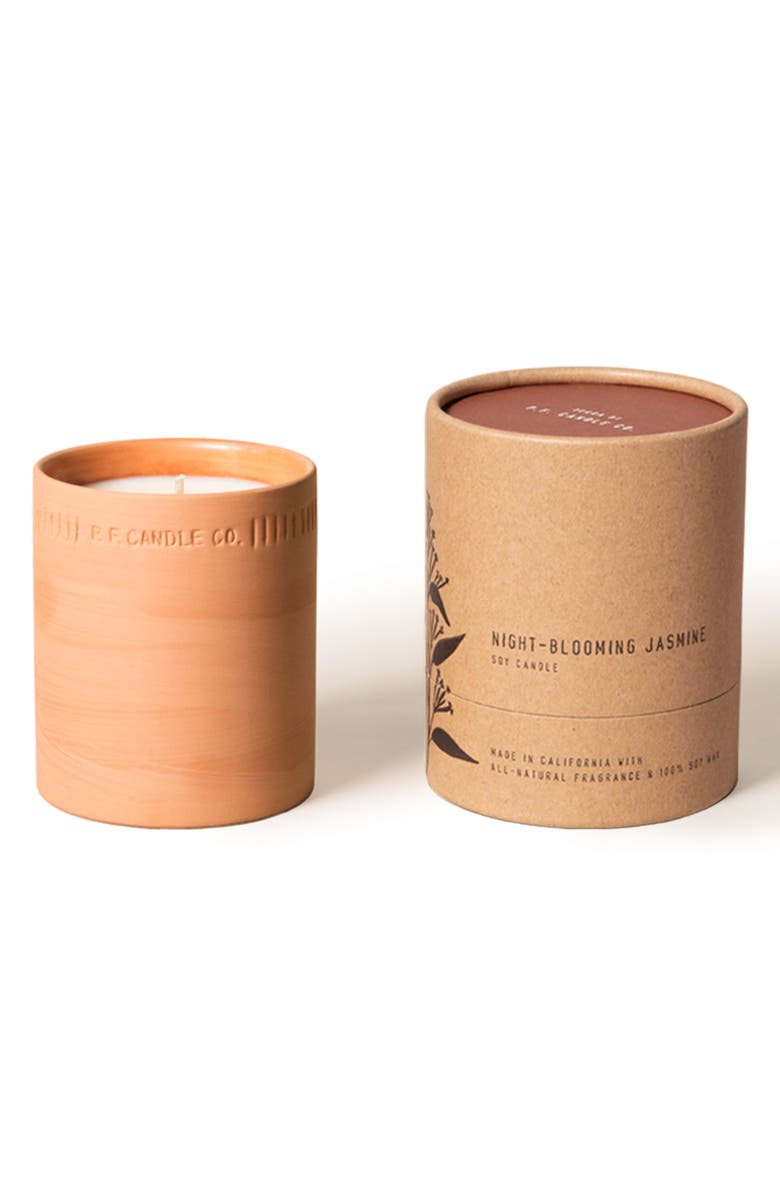 P.F. CANDLE CO. Night-Blooming Jasmine Terra Candle, Main, color, NIGHT BLOOMING JASMINE