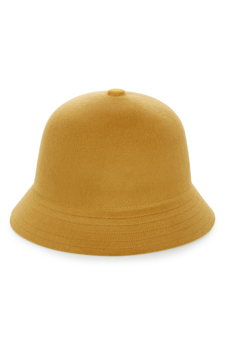 BRIXTON Essex Felt Bucket Hat, Main, color, MAIZE