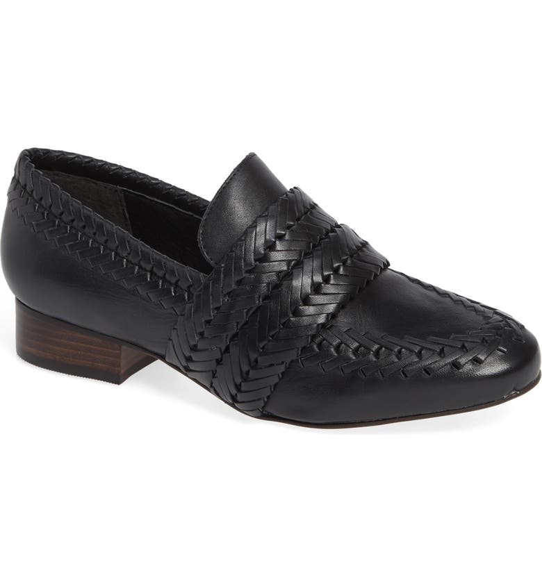 MATISSE Edith Woven Loafer, Main, color, BLACK