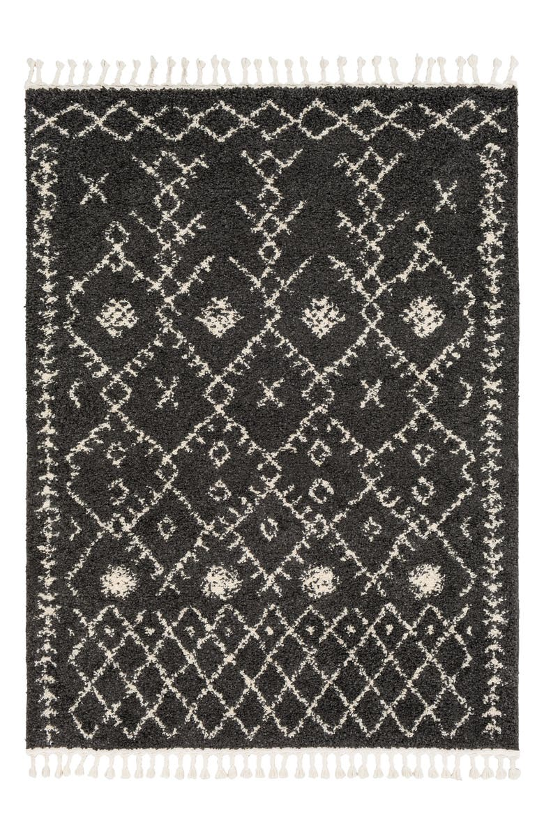 SURYA HOME Berber Shag Global Area Rug, Main, color, CHARCOAL