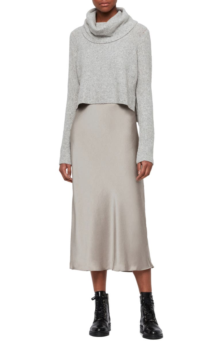 ALLSAINTS Tierny Two-Piece Sweater & Slipdress, Main, color, 029