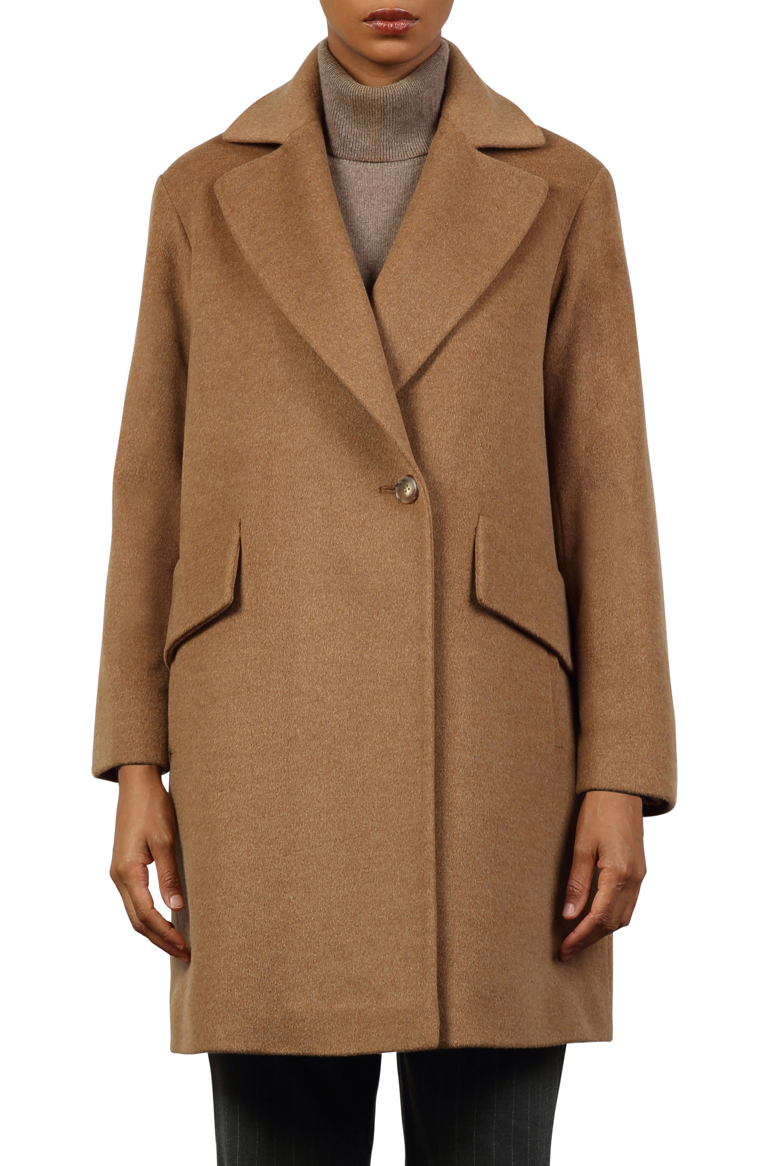 Dylan Notch Collar Wool Coat