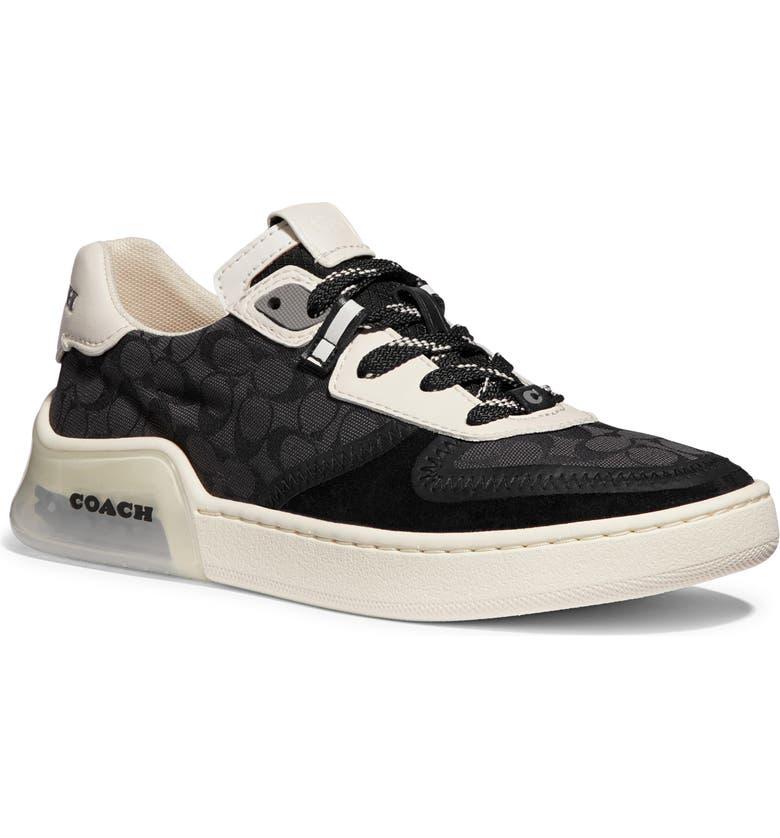 COACH CitySole Court Sneaker, Main, color, BLACK/ CHALK SIGNATURE