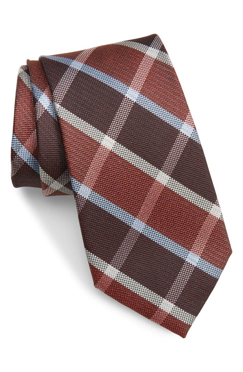 CALIBRATE Franklin Check Silk Tie, Main, color, 601