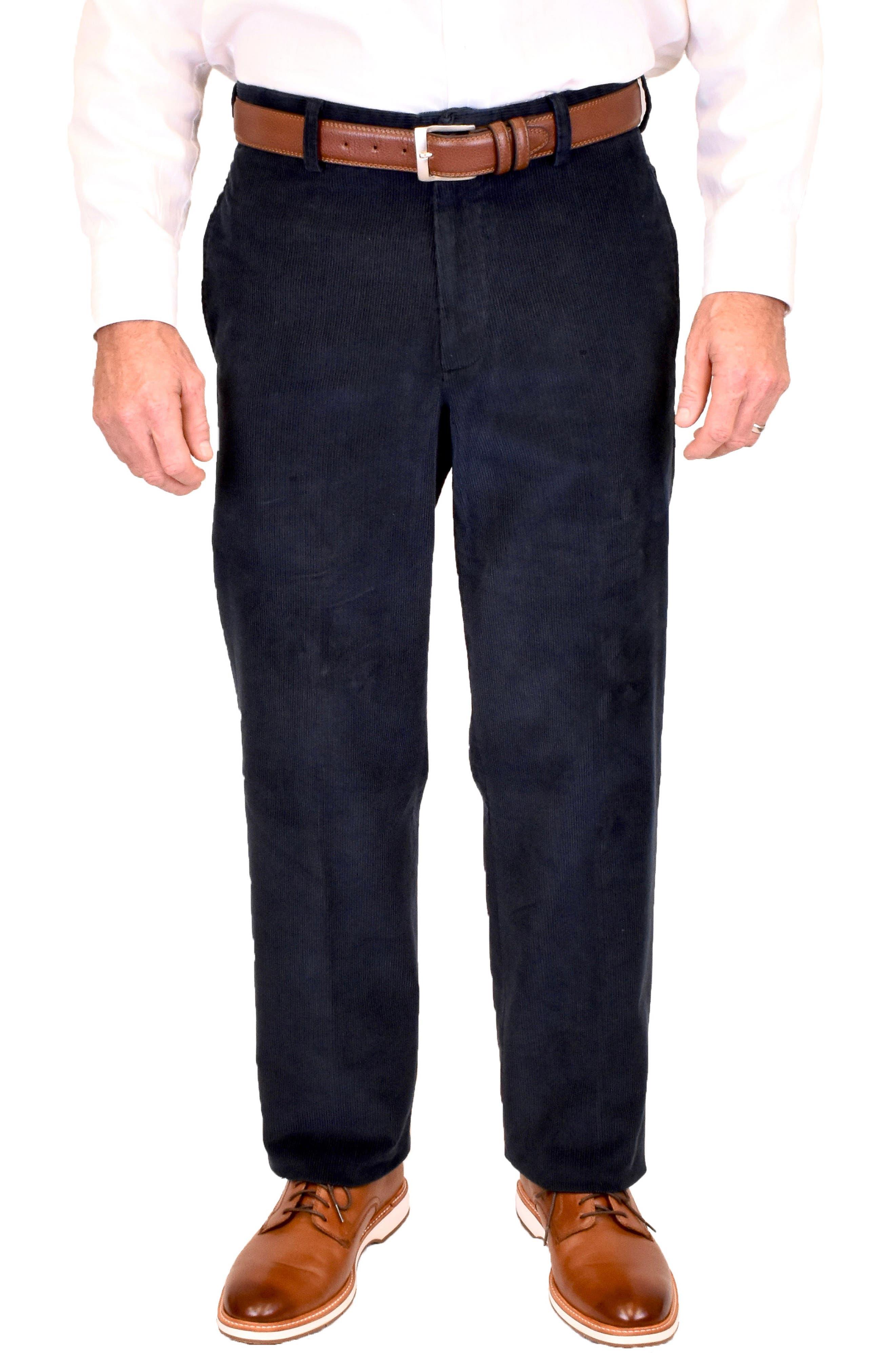 Charleston Flat Front Cotton Corduroy Dress Pants