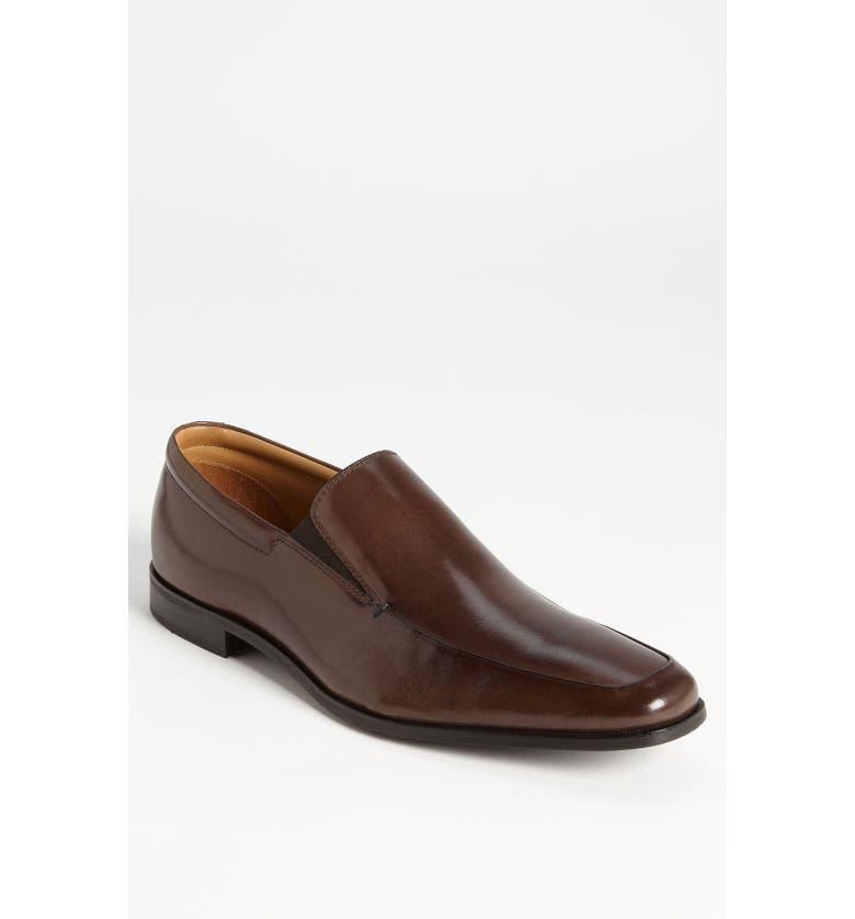 GORDON RUSH 'Elliot' Venetian Loafer, Main, color, BROWN LEATHER