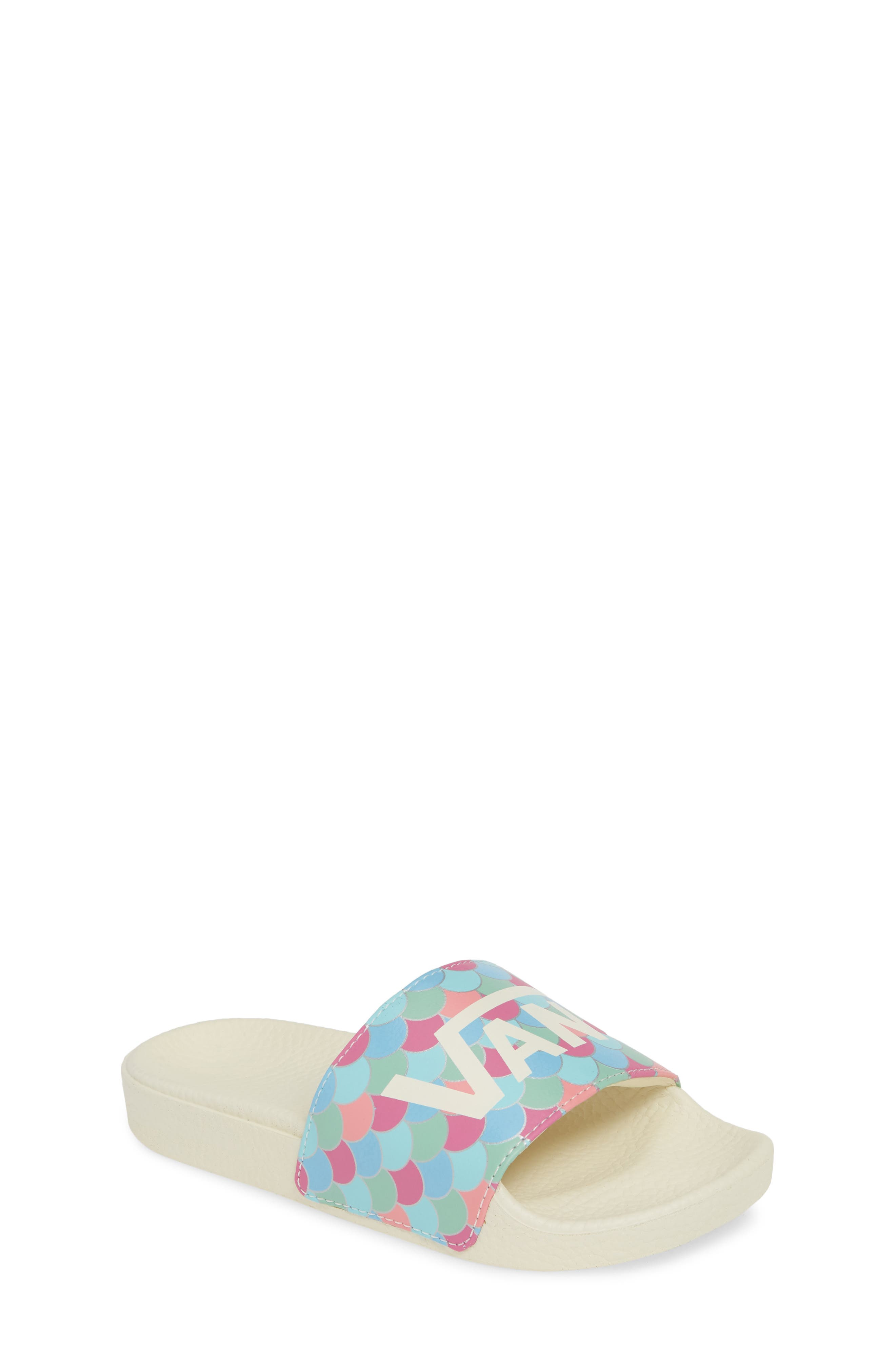 YT Slide-On Sport Slide, Main, color, MARSHMALLOW/ CARMINE ROSE