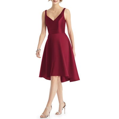 Alfred Sung Sweetheart Neck Sleeveless Cocktail Dress, Burgundy
