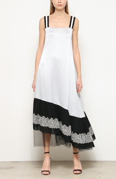 Lace Up Antique Pleated Satin Slipdress, video thumbnail