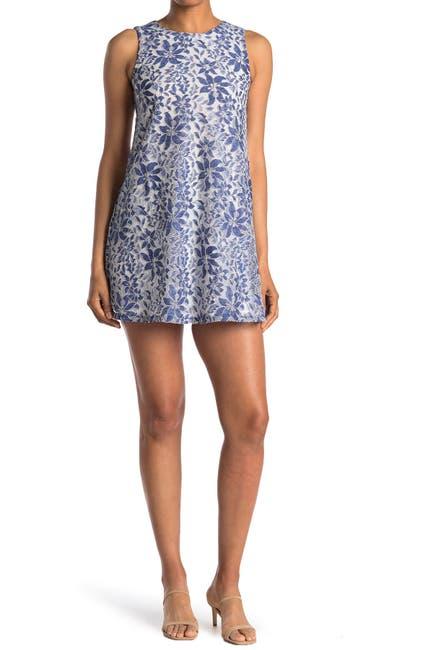 Image of Eliza J Sleeveless Lace Shift Dress