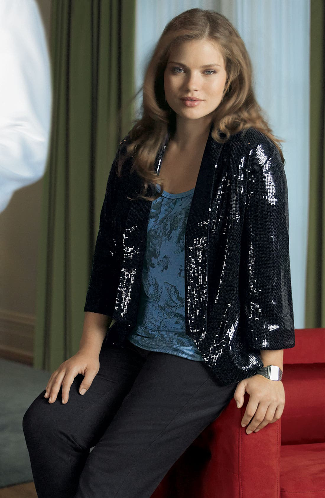 ,                             Sequin Waiter Jacket,                             Alternate thumbnail 2, color,                             001