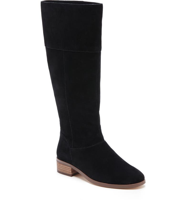 SOLE SOCIETY Carlie Knee High Boot, Main, color, BLACK SUEDE