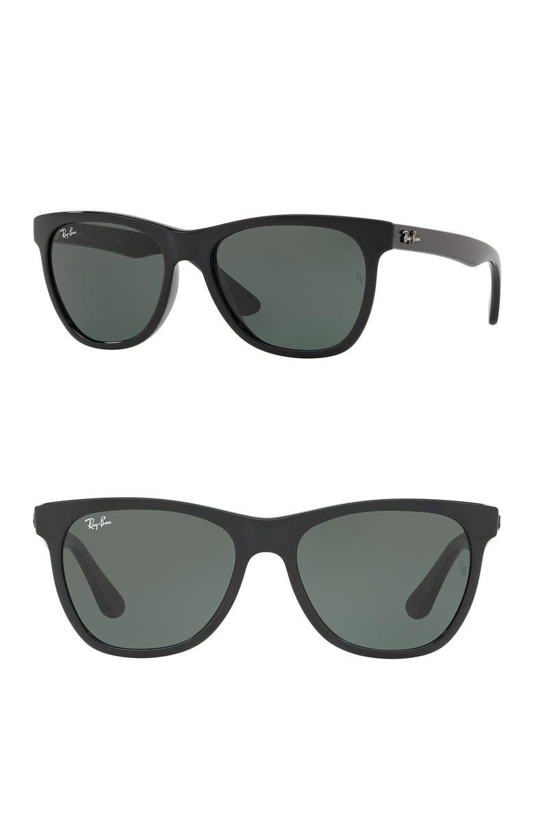 RAY-BAN 54mm Wayfarer Sunglasses, Main, color, BLACK