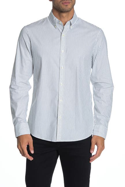 Image of Michael Kors Striped Trim Fit Shirt