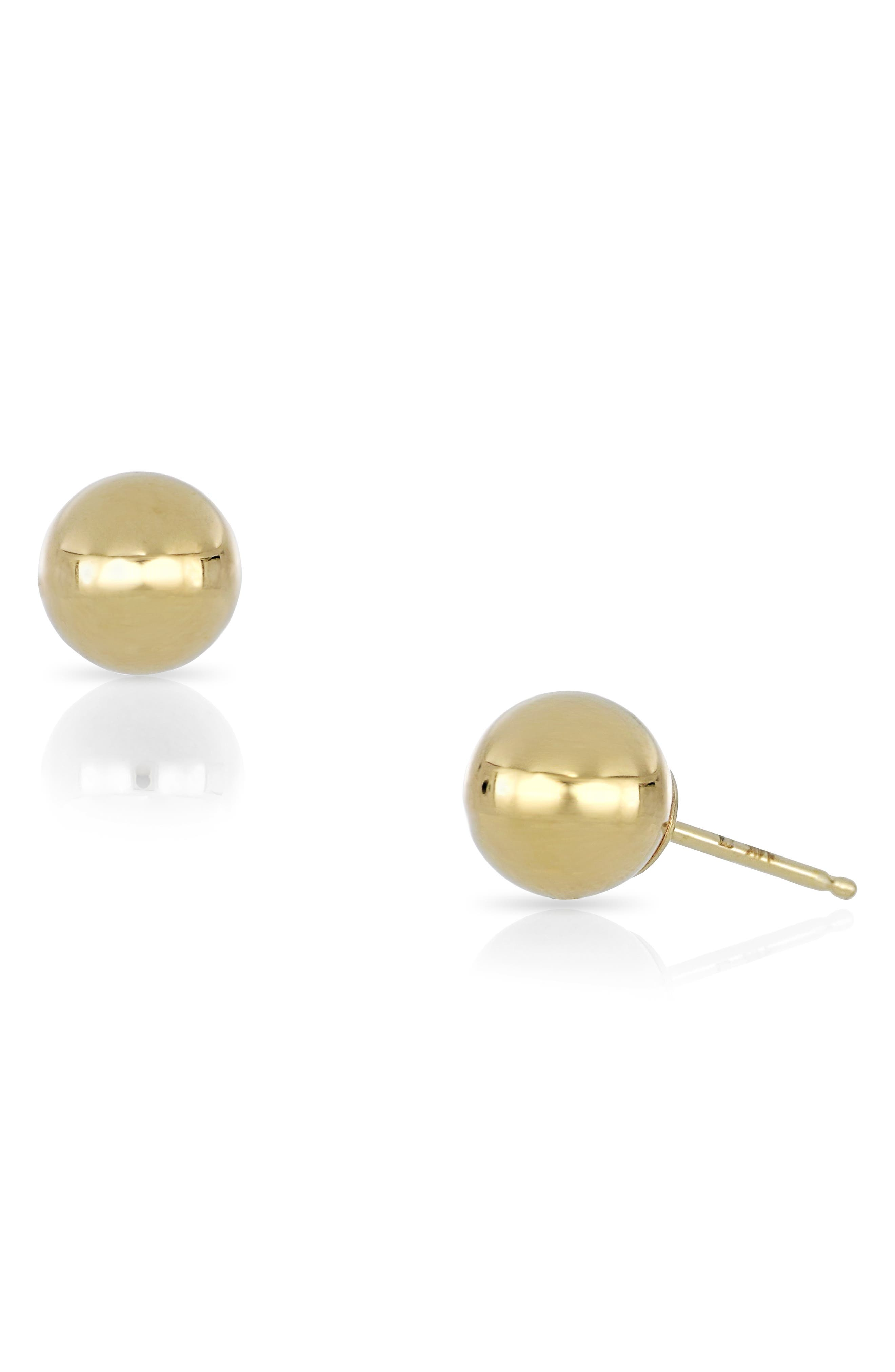 14K Gold Small Ball Stud Earrings (Nordstrom Exclusive)