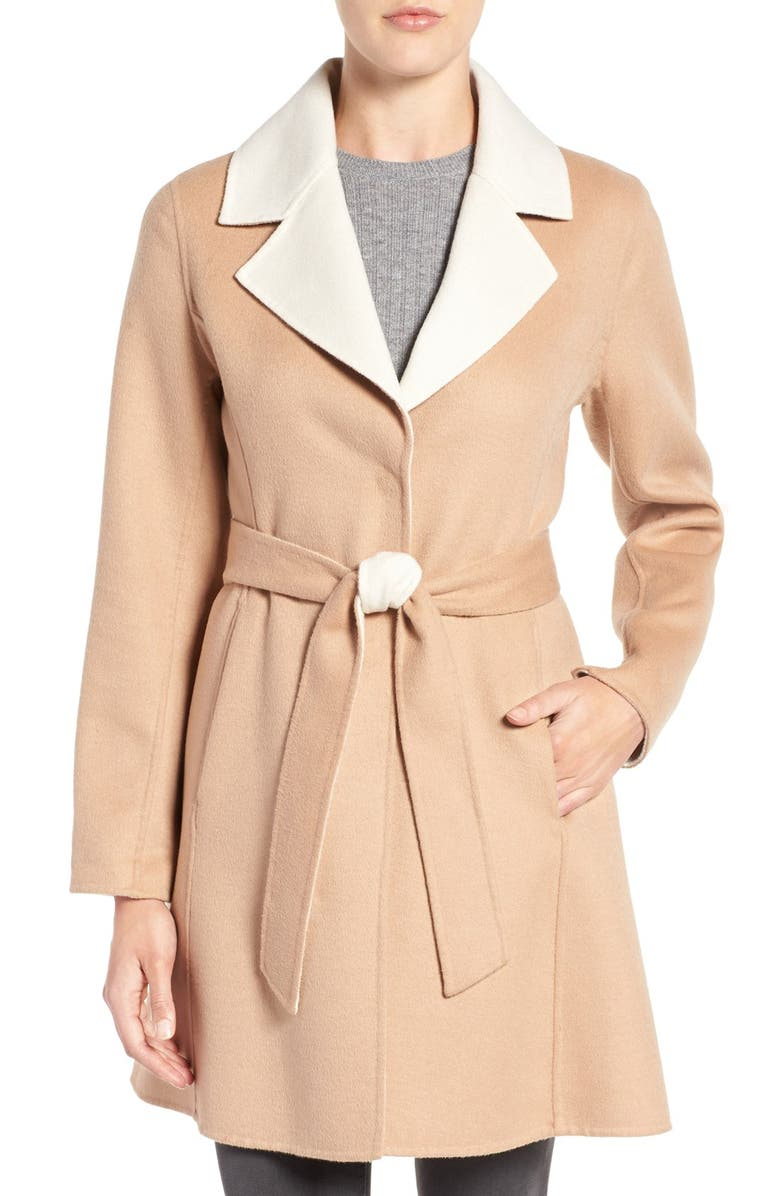 KATE SPADE NEW YORK double face walking coat, Main, color, 253