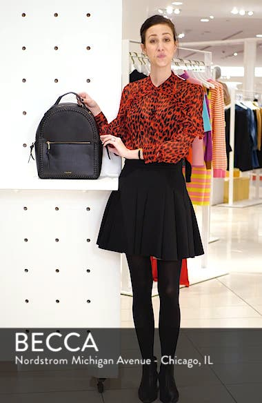 Kaya Faux Leather Round Backpack, sales video thumbnail