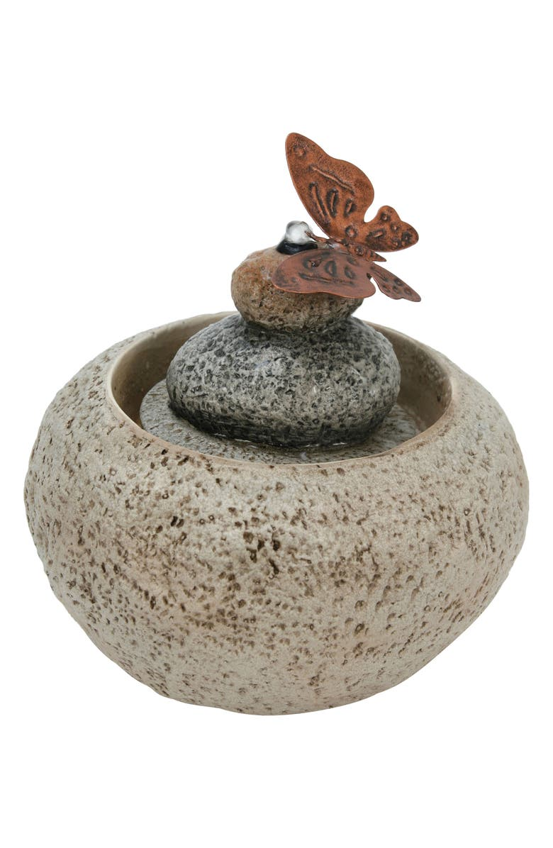 FORESIDE Stonecarved Cairn Fountain, Main, color, CREAM