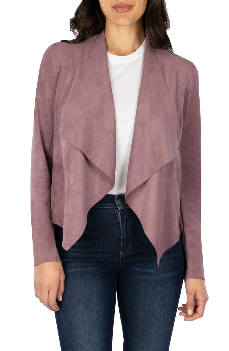 KUT FROM THE KLOTH Tayanita Faux Suede Jacket, Main, color, WISTERIA