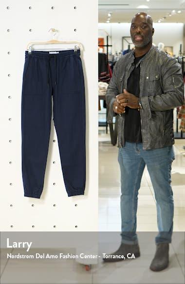 Herringbone Skinny Fit Jogger Pants, sales video thumbnail