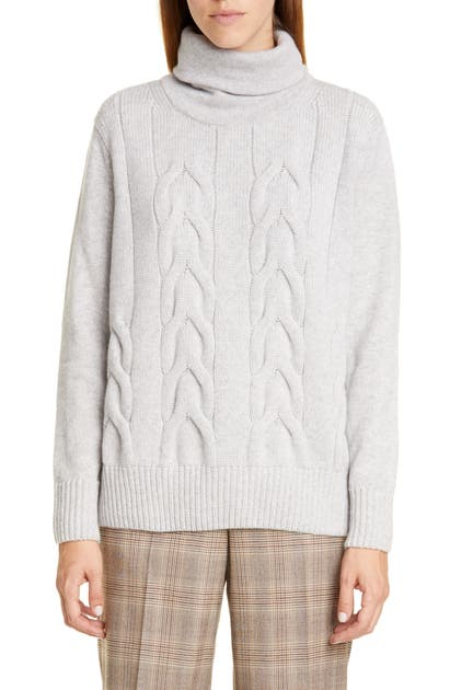 Lafayette 148 Knits CABLE KNIT CASHMERE SWEATER