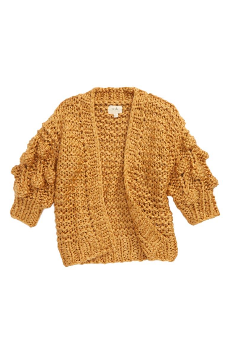 EN ELLY Pom Detail Knit Cardigan, Main, color, 250
