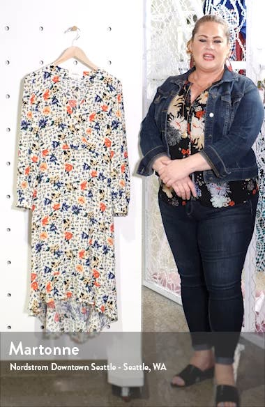 Paloma Floral Long Sleeve Midi Dress, sales video thumbnail