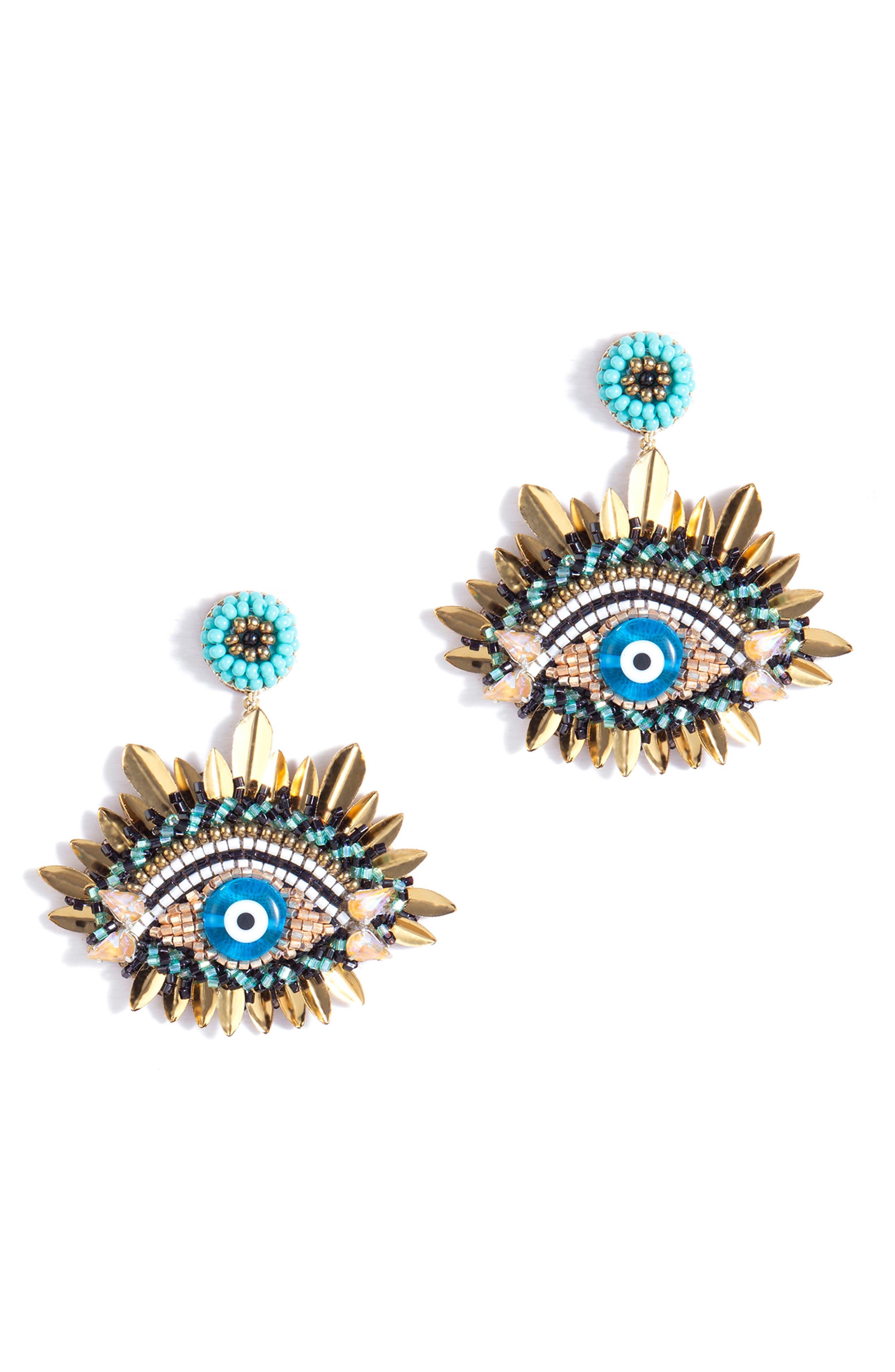 Urja Evil Eye Drop Earrings