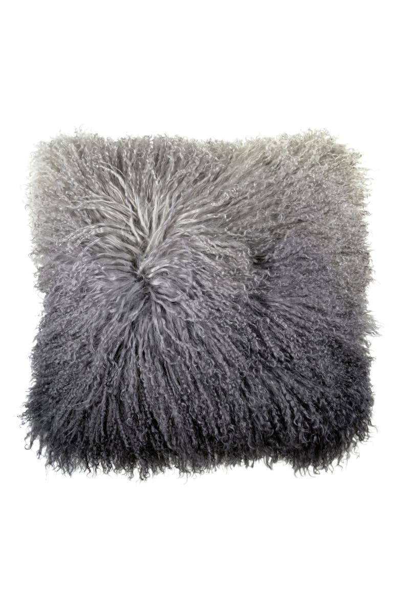 MICHAEL ARAM Dip Dye Sheepskin Accent Pillow, Main, color, 020