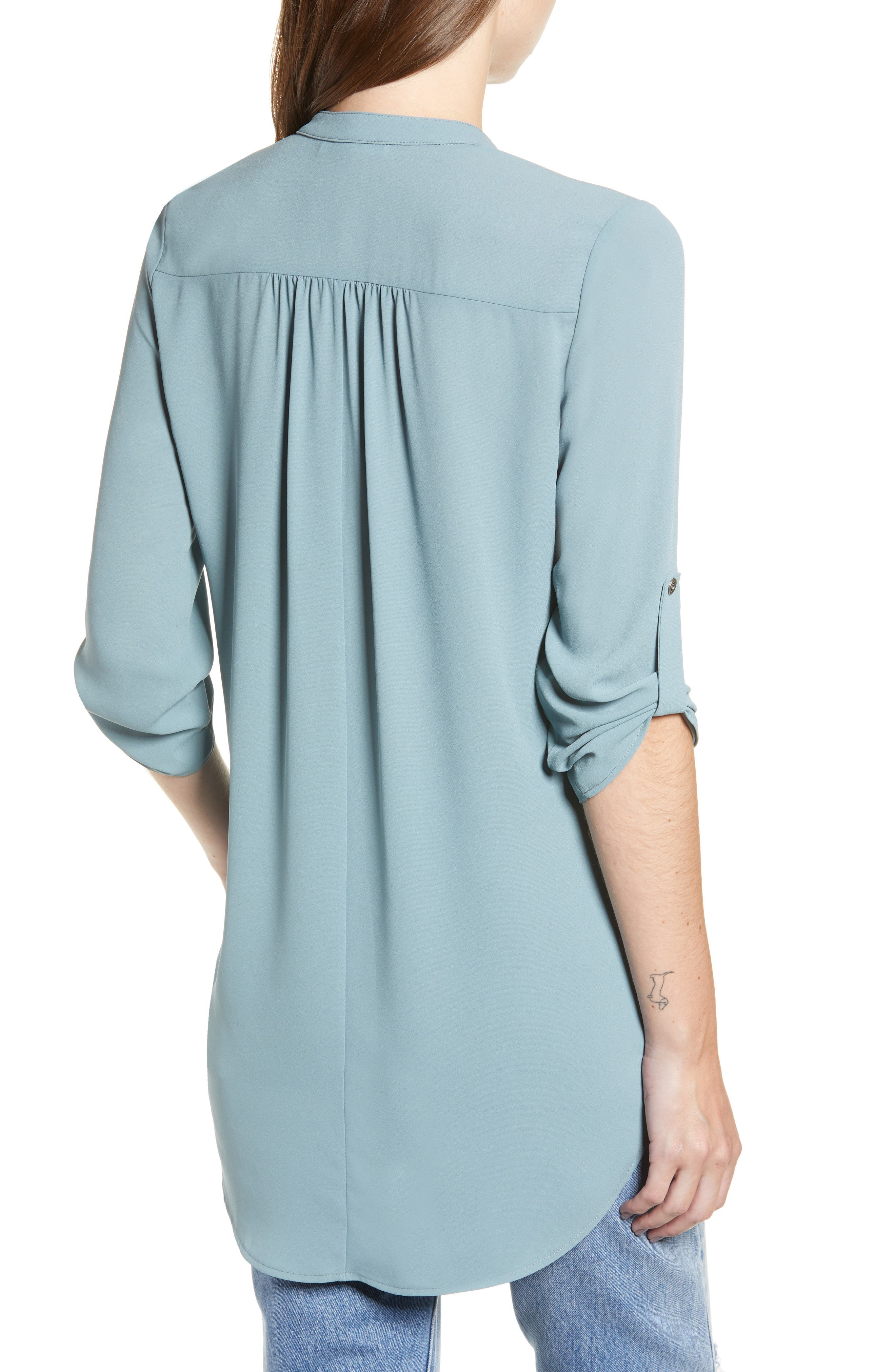 ,                             Perfect Roll Tab Sleeve Tunic,                             Alternate thumbnail 116, color,                             498