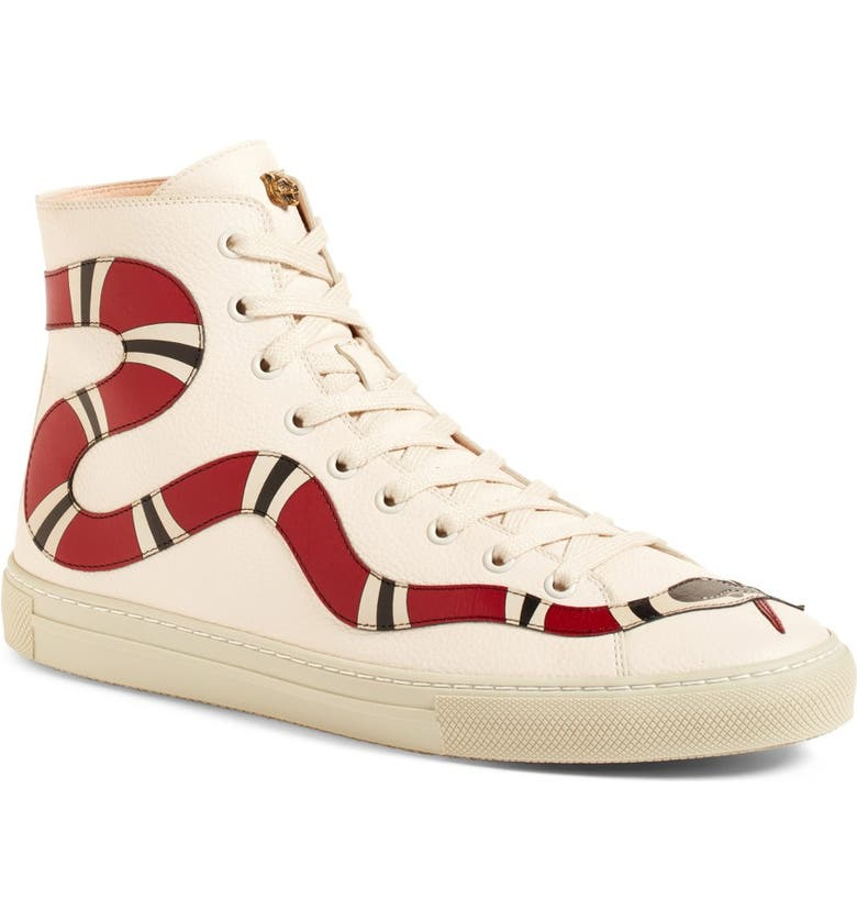 GUCCI Major Snake High Top Sneaker, Main, color, 101