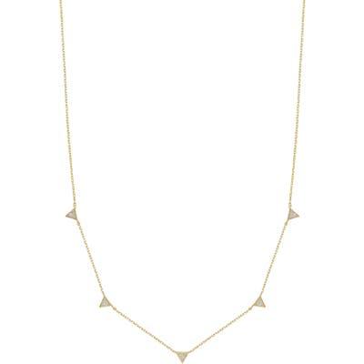 Ettika Crystal Triangle Station Necklace